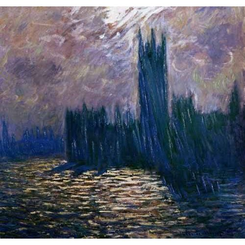 Quadro -London Parliament, effects on the Thames, 1905-