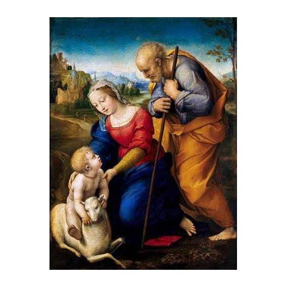 imagens religiosas - Quadro -La Sagrada Familia del Cordero-
