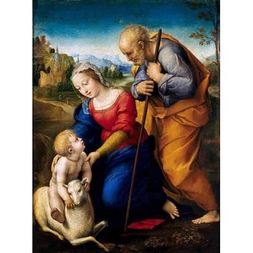 cuadros religiosos - Cuadro -La Sagrada Familia del Cordero-