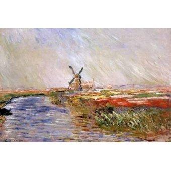 - Quadro -El campo de tulipanes, Holanda- - Monet, Claude