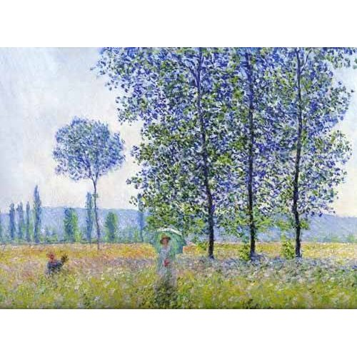 Quadro -Sunlight effect poplars Sun, 1887-