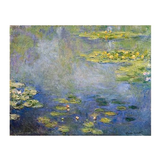 pinturas de paisagens - Quadro -Nenufares, Giverny-