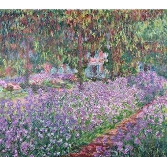 - Quadro -El jardin del artista en Giverny- - Monet, Claude