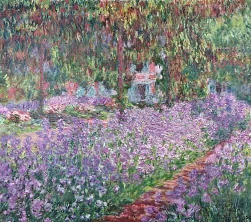 quadros-de-paisagens - Quadro -El jardin del artista en Giverny- - Monet, Claude