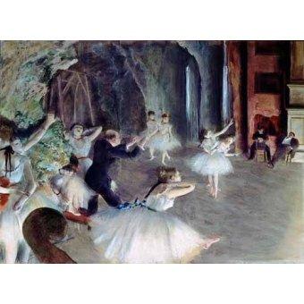 - Quadro -The rehearsal of the ballet on stage- - Degas, Edgar