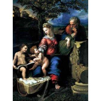 quadros religiosos - Quadro -La Sagrada Familia del Roble- - Rafael, Sanzio da Urbino Raffael