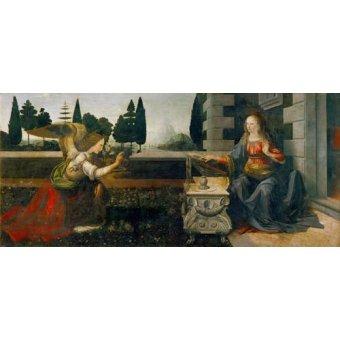 religious paintings - Picture -La Anunciación- - Vinci, Leonardo da