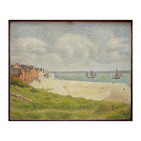 pinturas de paisagens marinhas - Quadro -Le Crotoy looking Upstream, 1889-