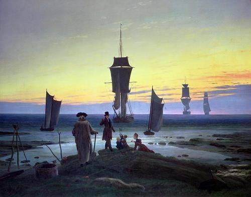 quadros-de-paisagens-marinhas - Quadro -The Stages of Life, 1835- - Friedrich, Caspar David