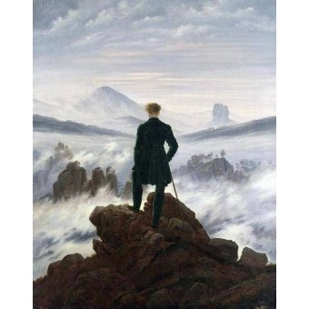 landscapes - Picture -The Wanderer above the Sea of Fog, 1818- - Friedrich, Caspar David