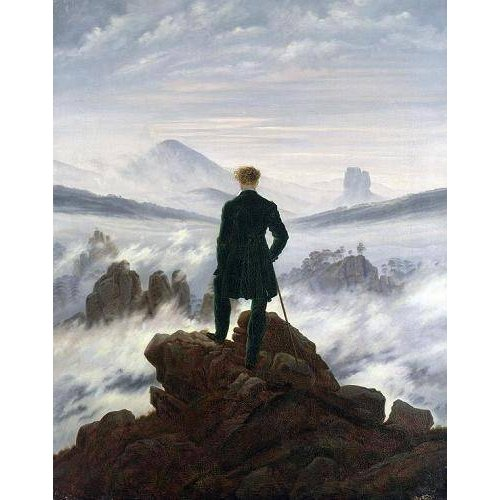 Quadro -The Wanderer above the Sea of Fog, 1818-