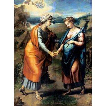 quadros religiosos - Quadro -La Visitación- - Rafael, Sanzio da Urbino Raffael