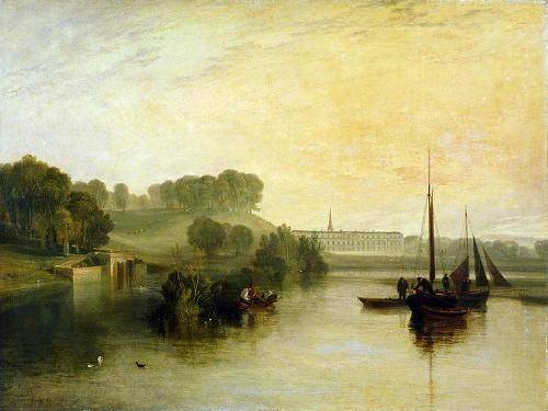 quadros-de-paisagens-marinhas - Quadro -Petworth, Sussex, The Sea of the Earl of Egremont- - Turner, Joseph M. William