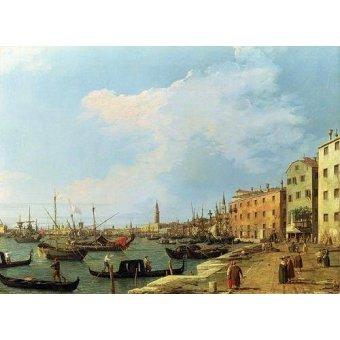 quadros de paisagens marinhas - Quadro -The Riva Degli Schiavoni, 1724-30- - Canaletto, Giovanni A. Canal