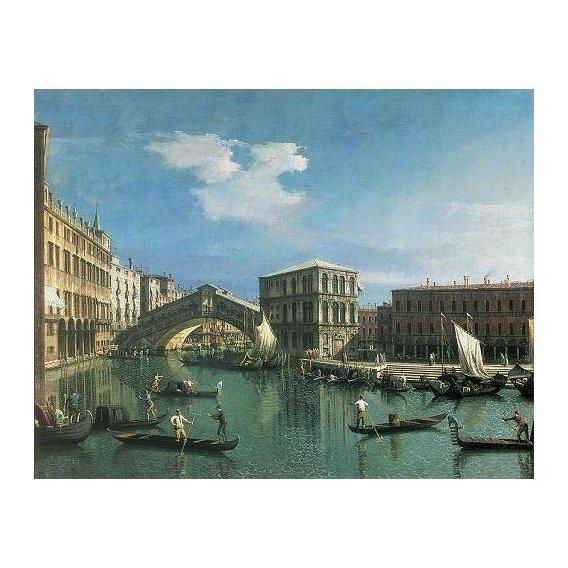 pinturas de paisagens marinhas - Quadro -The Rialto Bridge, Venice-