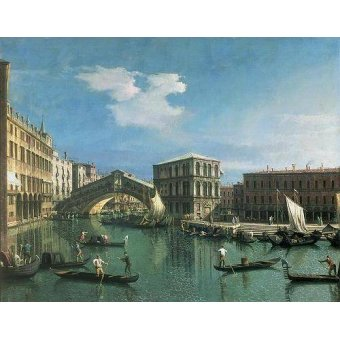 - Quadro -The Rialto Bridge, Venice- - Canaletto, Giovanni A. Canal