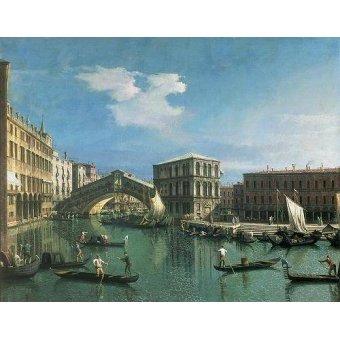 quadros de paisagens marinhas - Quadro -The Rialto Bridge, Venice- - Canaletto, Giovanni A. Canal