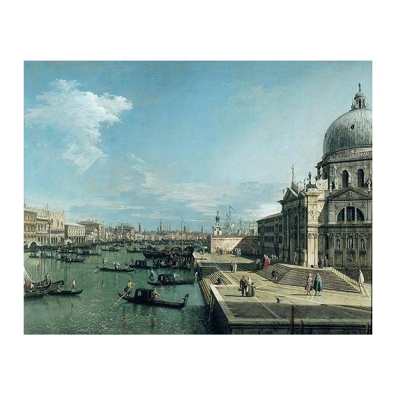 pinturas de paisagens marinhas - Quadro -The Entrance to the Grand Canal, Venice-