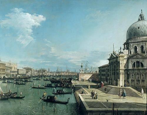 quadros-de-paisagens-marinhas - Quadro -The Entrance to the Grand Canal, Venice- - Canaletto, Giovanni A. Canal