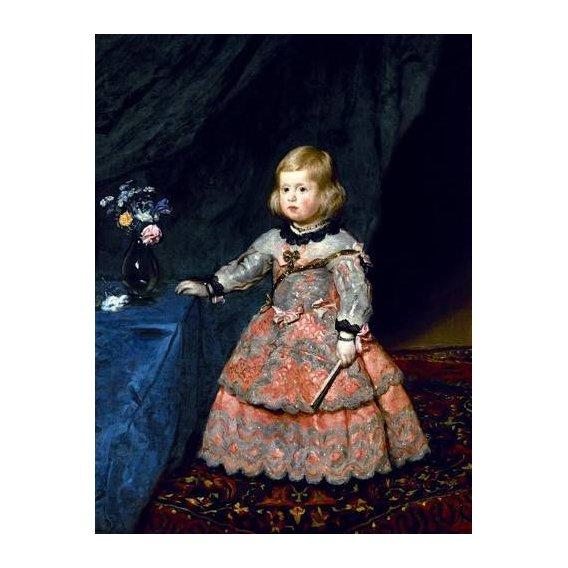 pinturas do retrato - Quadro -Retrato de la Infanta Margarita a la edad de tres años-