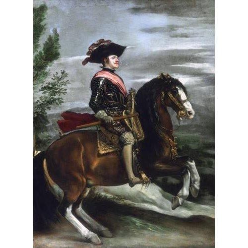pinturas do retrato - Quadro -Felipe IV, Rey de España-