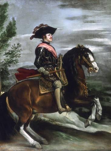 pinturas-de-retratos - Quadro -Felipe IV, Rey de España- - Velazquez, Diego de Silva