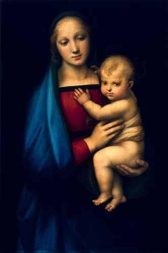 quadros-religiosos - Quadro -Madonna del Granduca- - Rafael, Sanzio da Urbino Raffael