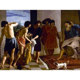 - Quadro -La túnica de José- - Velazquez, Diego de Silva