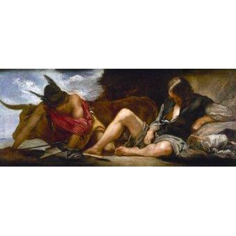 - Quadro -Mercurio y Argos- - Velazquez, Diego de Silva