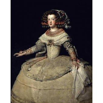 - Quadro -Retrato de la Infanta Maria Teresa, hija del Rey Felipe IV- - Velazquez, Diego de Silva