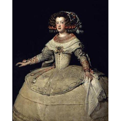 Quadro -Retrato de la Infanta Maria Teresa, hija del Rey Felipe IV-