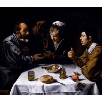 - Quadro -El almuerzo- - Velazquez, Diego de Silva