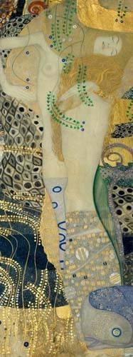 pinturas-de-retratos - Quadro -Serpientes de agua- - Klimt, Gustav