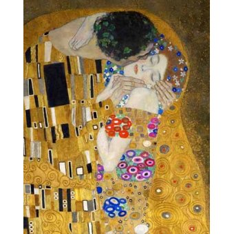 pinturas de retratos - Quadro -O beijo (detalhe)- - Klimt, Gustav