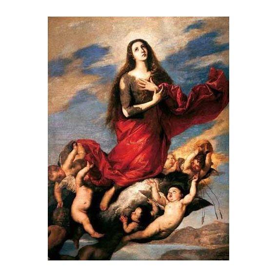 religious paintings - Picture -El tránsito de la Magdalena-