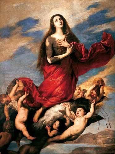 religious paintings - Picture -El tránsito de la Magdalena- - Ribera, Jose de