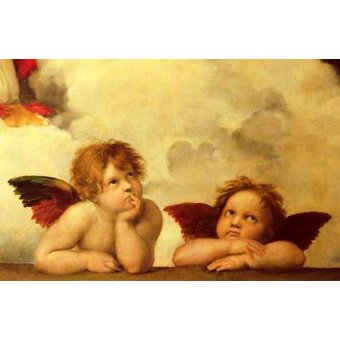 religious paintings - Picture -Los dos angeles- - Rafael, Sanzio da Urbino Raffael