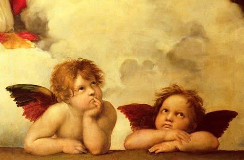 quadros-religiosos - Quadro -Los dos angeles- - Rafael, Sanzio da Urbino Raffael