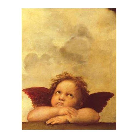 imagens religiosas - Quadro -Los dos angeles (detalle angel dcha).-
