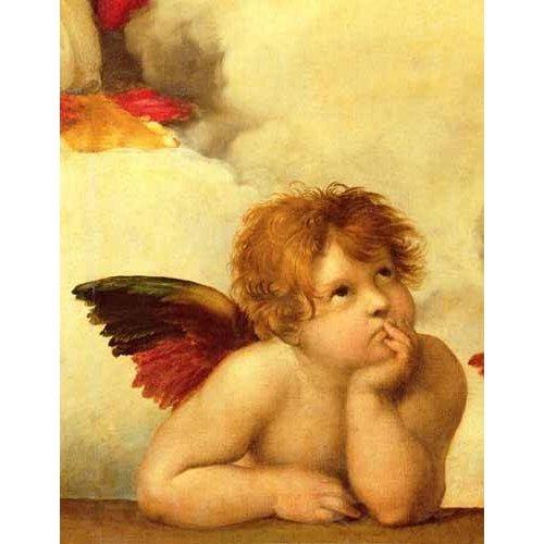Quadro -Los dos angeles (detalle angel izqda).-