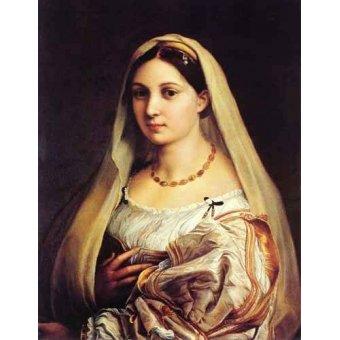 - Quadro -Mujer con velo- - Rafael, Sanzio da Urbino Raffael