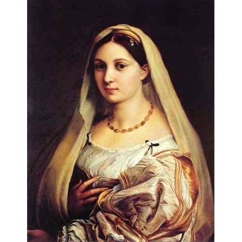 pinturas do retrato - Quadro -Mujer con velo-