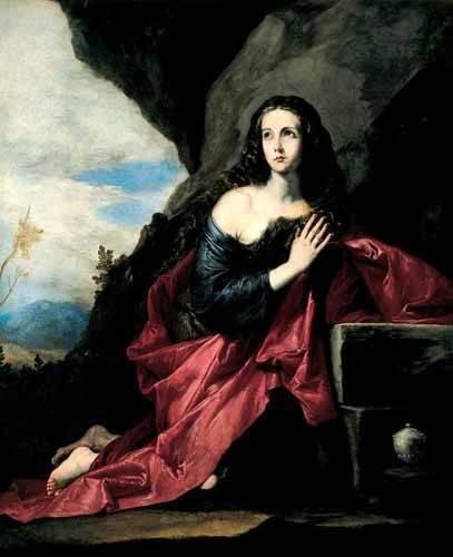 quadros-religiosos - Quadro -Maria Magdalena, Penitente- - Ribera, Jose de