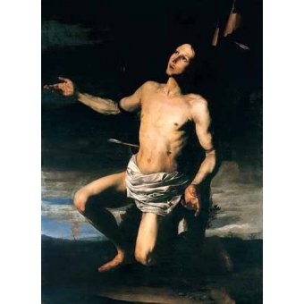 quadros religiosos - Quadro -San Sebastián- - Ribera, Jose de