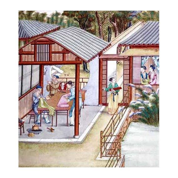cuadros etnicos y oriente - Cuadro -Despacho de un comerciante de telas-