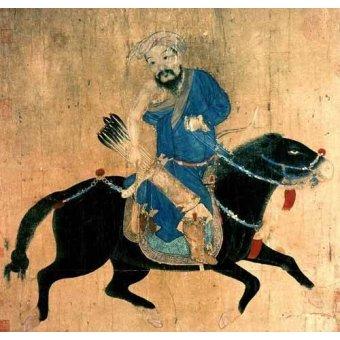 - Quadro -Arquero Mongolo a caballo- - _Anónimo Chino