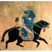 Quadro -Arquero Mongolo a caballo-