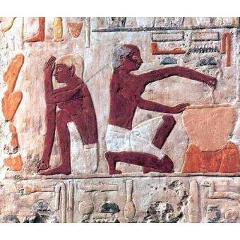 cuadros etnicos y oriente - Cuadro -Elaboración del pan, 2500-2300 a.C.- - _Anónimo Egipcio