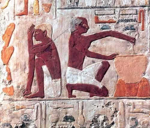 quadros-etnicos-e-orientais - Quadro -Elaboración del pan, 2500-2300 a.C.- - _Anónimo Egipcio