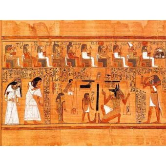 quadros étnicos e orientais - Quadro -Libro de los muertos (de Ani): El Tribunal de los Dioses- - _Anónimo Egipcio